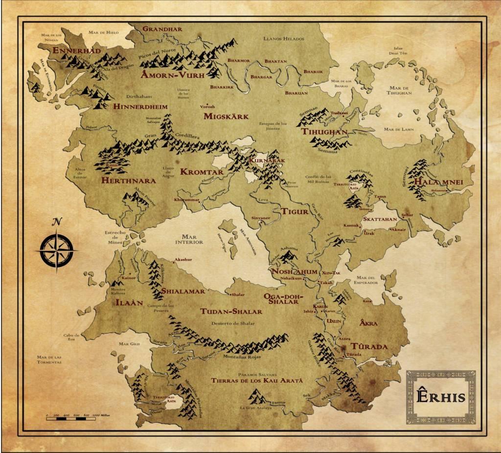 mapa mundo Êrhis
