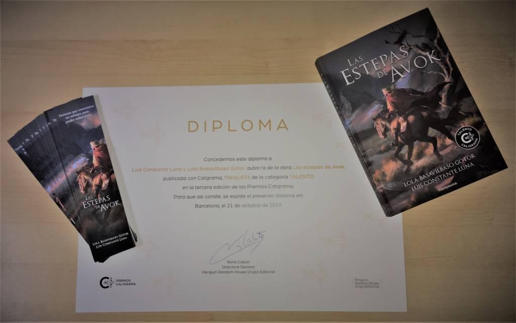 Las estepas de Avok fue seleccionada entre las novelas finalistas de los III Premios Caligrama en la categoría Talento